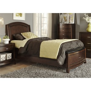 Full Leather Storage Bed