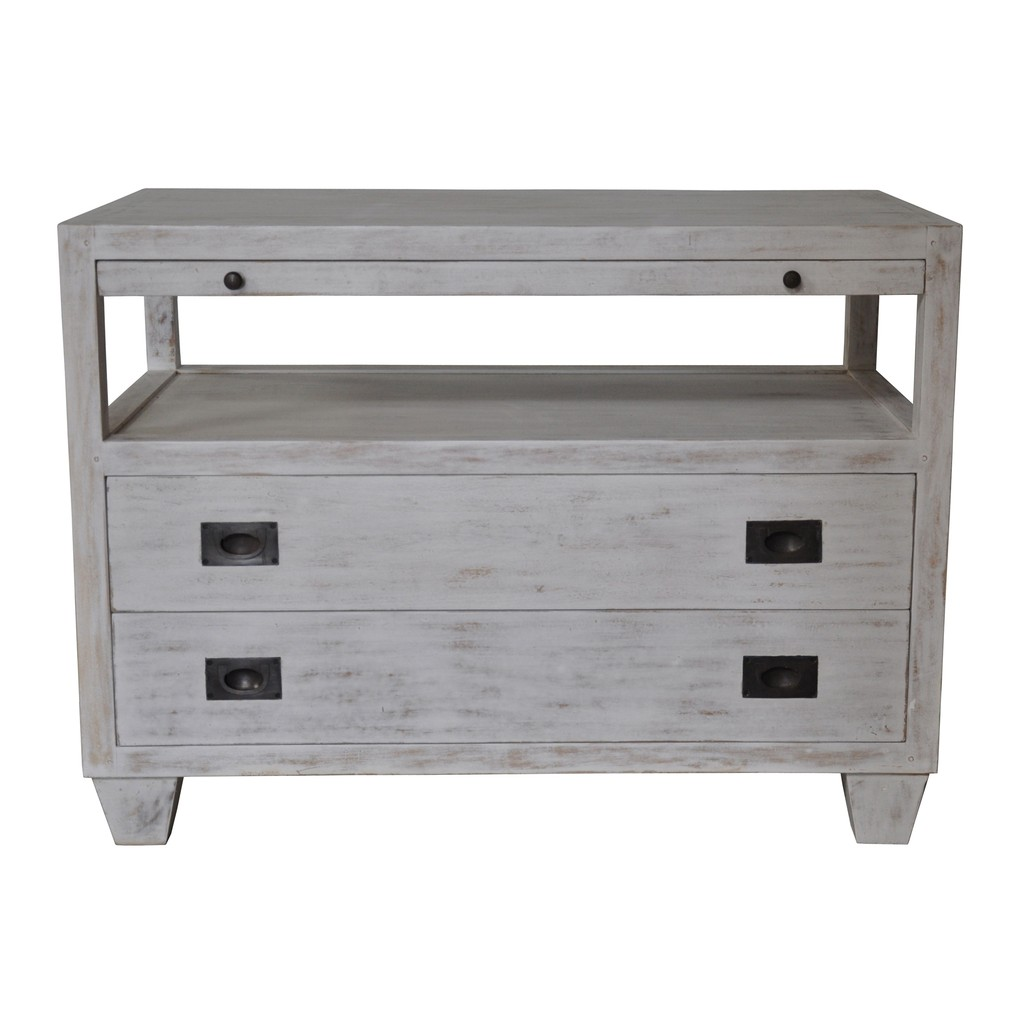 Two Drawer Side Table | Noir