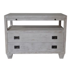 Two Drawer Side Table