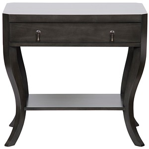 Weldon One Drawer Leg Nightstand in Pale Finish | Noir