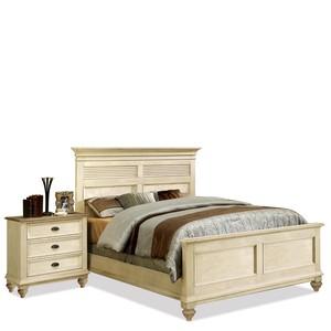 Queen Panel Shutter Bed | Riverside