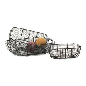 Set of Three Tabletop Wire Baskets | Park & Main