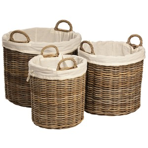 Round Basket - Set Of Three | Dovetail