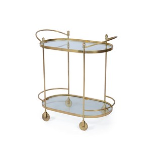 Agatha Oval Bar Cart
