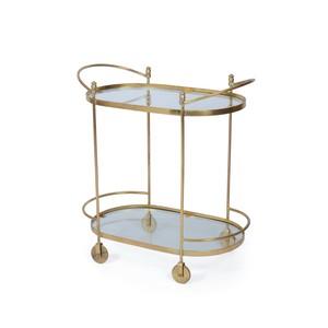 Agatha Oval Bar Cart