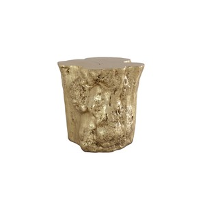 Log Side Table in Gold Leaf | Phillips Collection