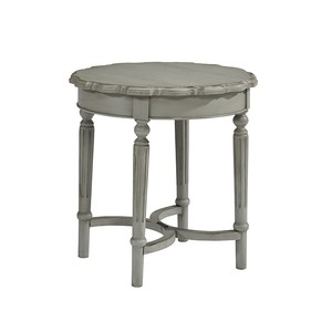 Short Round Side Table in Dove Grey