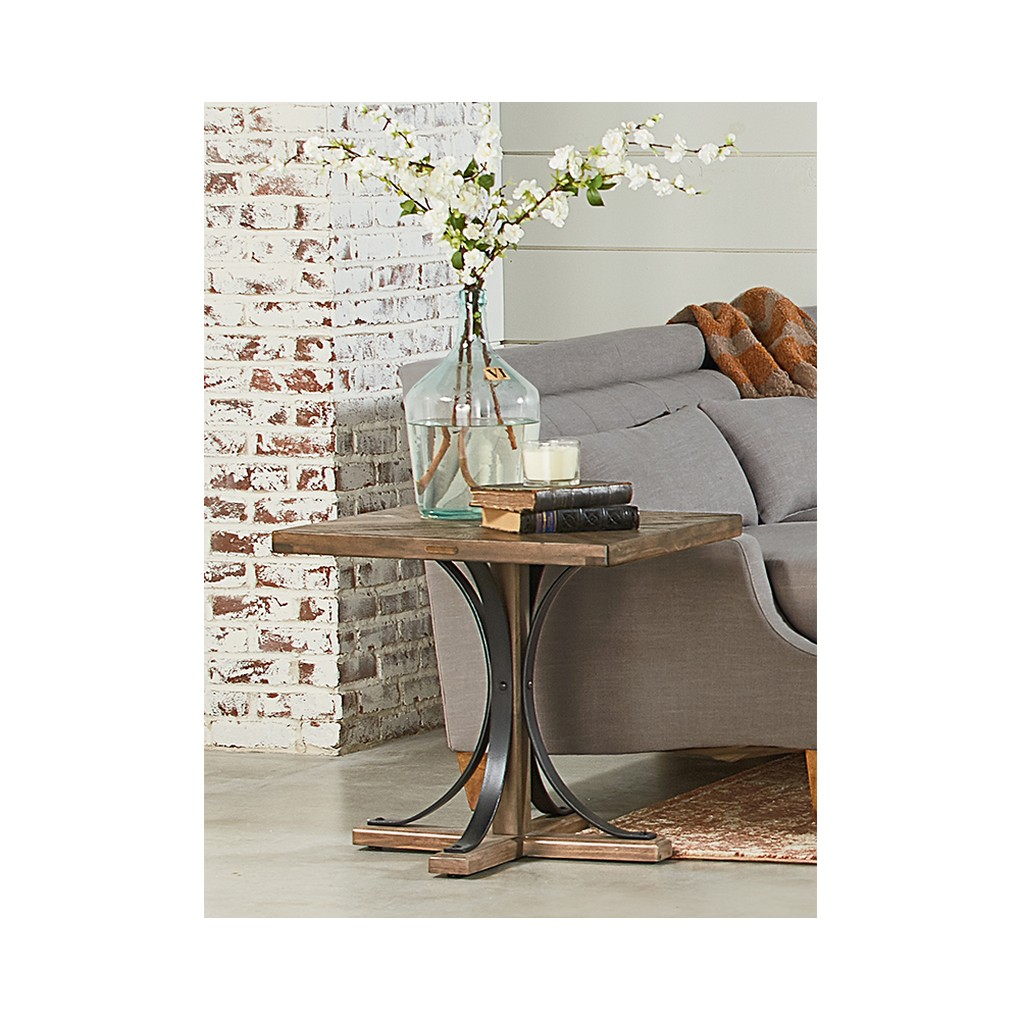 End Table with Metal Base   Magnolia Home