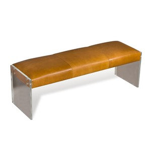Aiden Leather Bench | Interlude Home