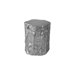 Medium Log Stool in Silver Leaf | Phillips Collection