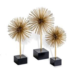 Set of Three Brass Urchins   Interlude Home