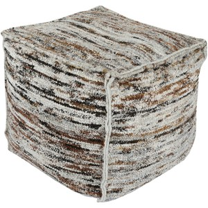 Bazaar Brown Pouf | Surya