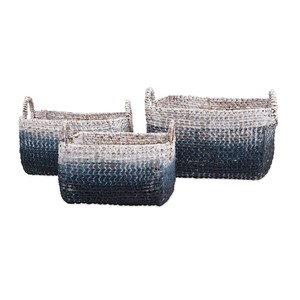 Cascade Woven Water Hyacinth Basket - Set of 3