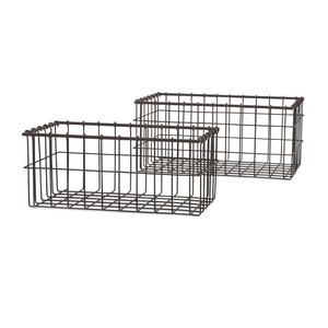 Hoyle Wire Baskets - Set of Two