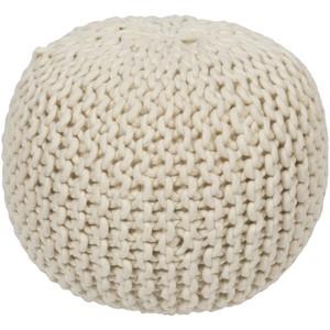 Round Wool Decorative Pouf