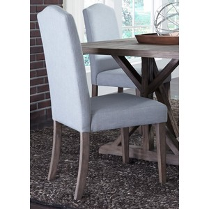 Upholstered Side Chair in Light Aqua | Liberty Furniture