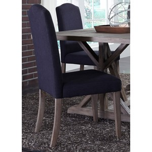 Upholstered Side Chair in Charcoal | Liberty Furniture
