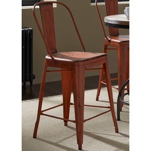 Bow-Back Counter Chair in Orange | Liberty Furniture