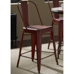 Bow-Back Counter Chair in Red | Liberty Furniture