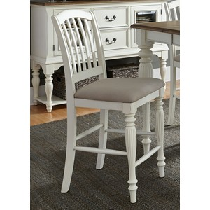Slat-Back Counter Chair