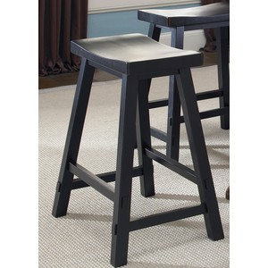 "24"" Sawhorse Barstool in Black 