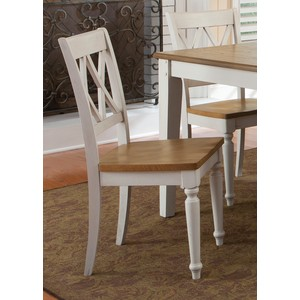 Double X-Back Side Chair | Liberty Furniture