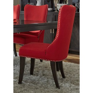 Upholstered Side Chair in Red | Liberty Furniture