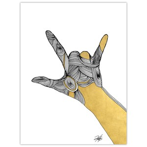 Sign Language III Giclee Art
