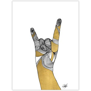 Sign Language IV Giclee Art