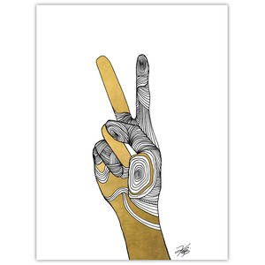 Sign Language VI Giclee Art