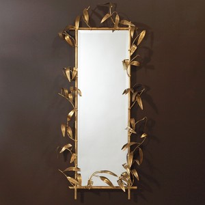 Bamboo Mirror with Gold Finish | Global Views
