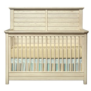 Driftwood Park Built to Grow Crib in Vanilla Oak | Stone & Leigh