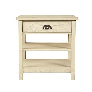 Driftwood Park Bedside Table in Vanilla Oak | Stone & Leigh