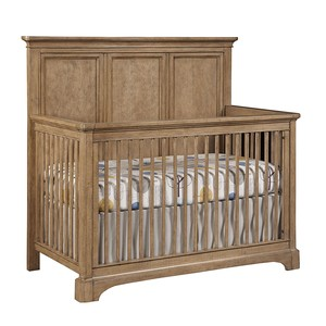 Chelsea Square Built to Grow Crib in French Toast | Stone & Leigh