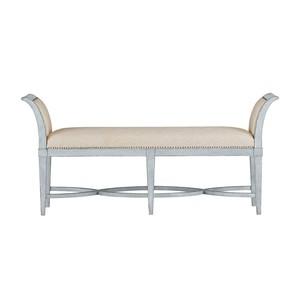 Surfside Bed End Bench in Sea Salt   Stanley Furniture