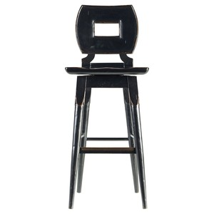 Wood Barstool in Ebony | Stanley Furniture