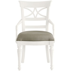 Sea Watch Armchair in Saltbox White | Stanley Furniture