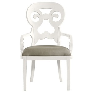 Wayfarer Armchair in Saltbox White | Stanley Furniture