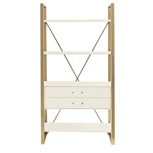 Harwell Bookcase in Saltbox White | Stanley Furniture