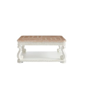Square Cocktail Table in 17th Century White | Stanley Furniture
