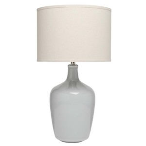 Plum Jar Table Lamp in Dove Grey Ceramic | Furnitureland Home