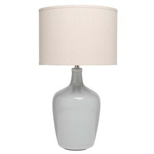 Plum Jar Table Lamp in Dove Grey Ceramic | Furnitureland Home
