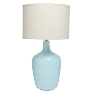 Plum Jar Table Lamp in Blue Ceramic | Furnitureland Home