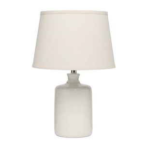 Cream Milk Jug Table Lamp with Tapered Shade | Furnitureland Home