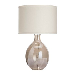 Juliette Table Lamp in Grey Glass