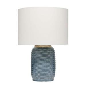 Graham Table Lamp in Blue Ceramic | Furnitureland Home
