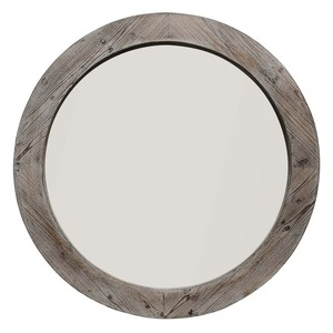 Reclaimed Mirror in Natural Wood | Furnitureland Home