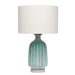 Aqua Frosted Glass Table Lamp | Furnitureland Home
