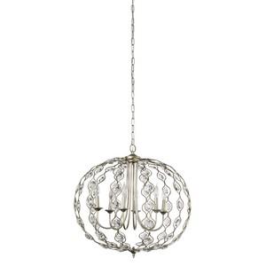 Six Light Crystal Pendant Chandelier | Furnitureland Home