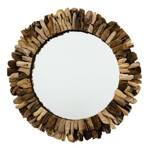 Driftwood Round Mirror | Furnitureland Home